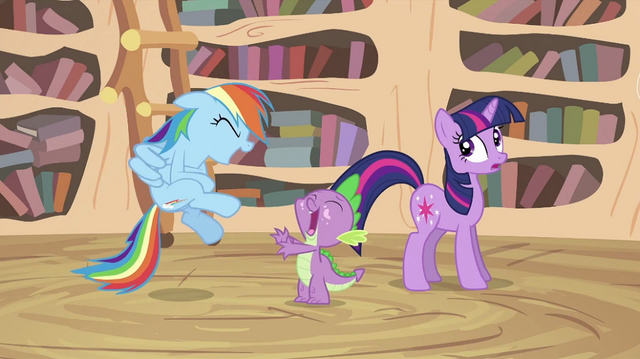 File:Spike and Rainbow laughing S2E20.png