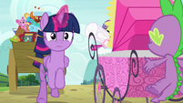 Twilight Sparkle dashes inside the hospital S7E3