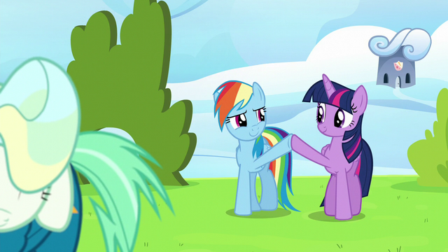 File:Twilight Sparkle and Rainbow Dash high-hoof S6E24.png