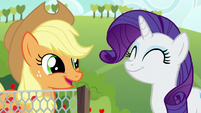 Applejack and Rarity pleased S6E10