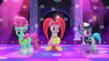 Club ponies hear the music being changed S6E9.png