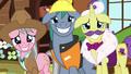 Expert ponies grin nervously at Fluttershy S7E5.png