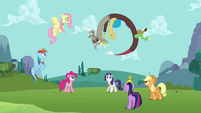 Discord laughing at Fluttershy S03E10