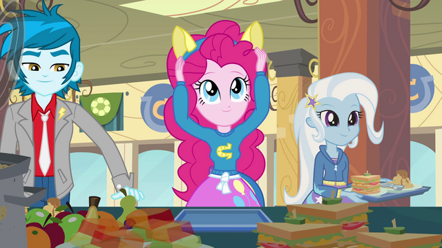 File:Pinkie Pie putting on ears EG.png