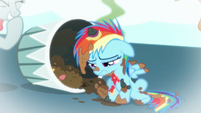 Young Rainbow Dash sad S6E7
