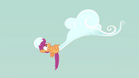 Scootaloo hugging cloud S3E6