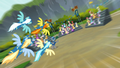 The Wonderbolts fly toward the crowd S6E7.png