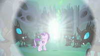 Thorax's cocoon releases a flash of light S6E26