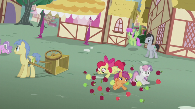 File:Crusaders tripping over apples S5E18.png