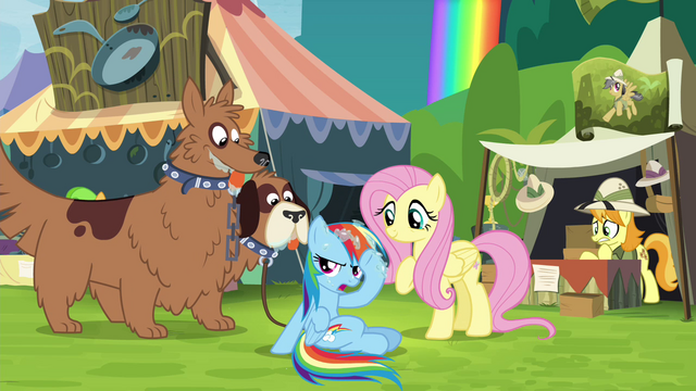 File:Rainbow next to Fluttershy and orthros S4E22.png