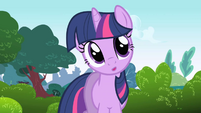 Twilight apologizing to Fluttershy S01E01