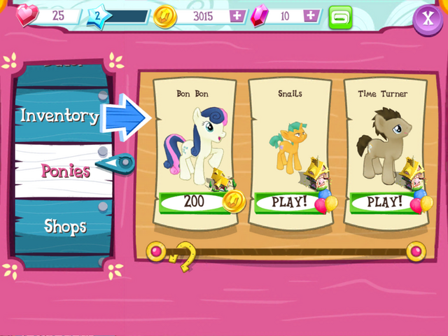 File:Buying Bon Bon MLP Game.png