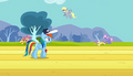 Derpy flying in the background S2E22.png