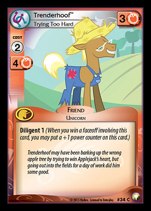 File:Trenderhoof, Trying Too Hard card MLP CCG.jpg