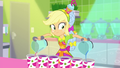 Applejack pouring juice into a row of cups SS9.png