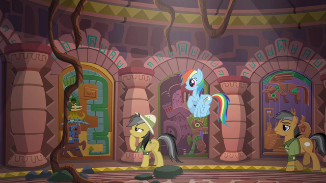 File:Daring Do approaches another door S6E13.png