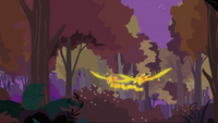 Phoenixes flying away with the baby phoenixes S2E21