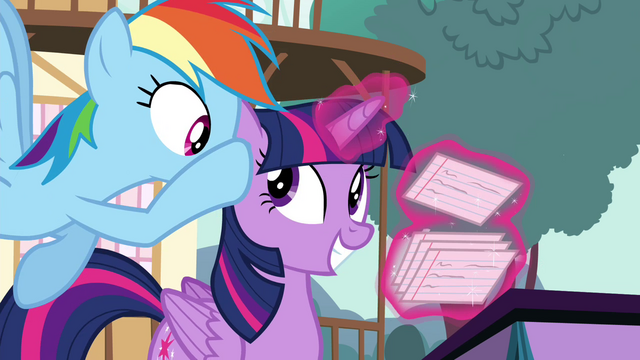 File:Rainbow Dash whispers in Twilight's ear S4E16.png