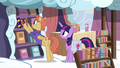 Cloudsdale bookseller puts journal on the shelf S7E14.png