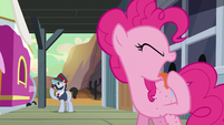 Pinkie removing the taste of sand out of her mouth S5E11