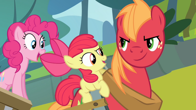 File:Apple Bloom singing while Big McIntosh is smiling S4E09.png