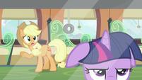 Applejack talking to Twilight 2 S2E25