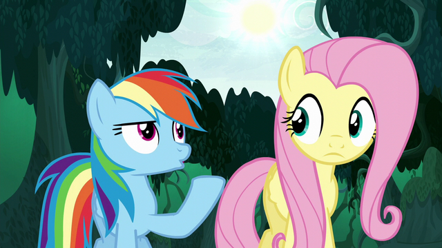 File:Rainbow Dash pointing to the sun S6E11.png