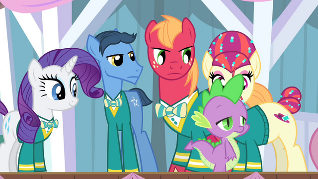 File:The Ponytones looking angry at Spike S4E14.png