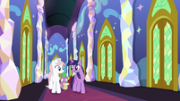 Twilight Sparkle walking with Nurse Redheart S7E3