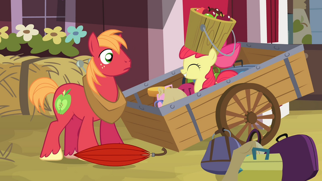 File:Big McIntosh sees Apple Bloom emerge from the wagon S4E09.png