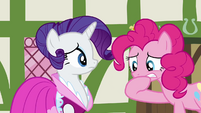 Pinkie Pie worried about missing out with Rarity S3E3