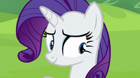 Rarity looking at Maud Pie S6E3