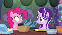 Starlight looks confused at Pinkie again S6E21