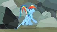 Rainbow Dash jumping up S2E07