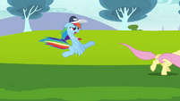 Rainbow Dash trying to convince Fluttershy 2 S2E22