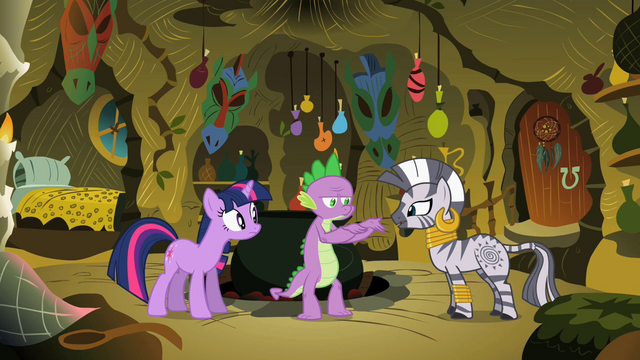 File:Twilight, Spike & Zecora S2E10.png