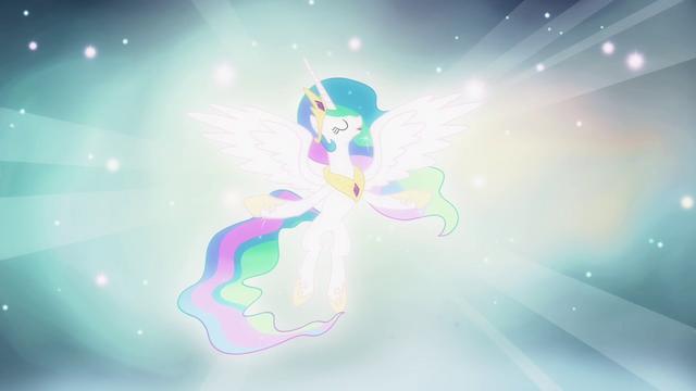 "File:Celestia singing ""fulfill your destiny"" S03E13.png"
