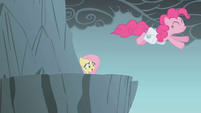 Fluttershy watches Pinkie Pie jump S1E06