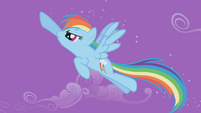 Rainbow Dash chasing about Trixie S1E06