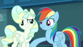 Rainbow Dash lightly punches Vapor Trail S6E24.png