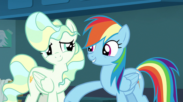 File:Rainbow Dash lightly punches Vapor Trail S6E24.png
