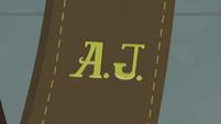 Applejack's monogrammed initials EG2