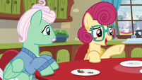 Mrs. Shy thanking Rainbow Dash S6E11