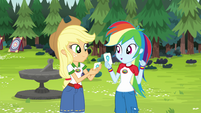 Rainbow Dash assigned to Aquamarine Tent EG4