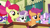 "Sweetie Belle ""sounds a bit over our heads"" S6E14"