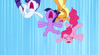 Twilight, Pinkie, Applejack, and Rarity falling S3E7