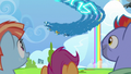 Wonderbolts streaking through the sky S7E7.png