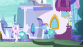 Canterlot ponies all wearing Princess Dresses S5E14.png