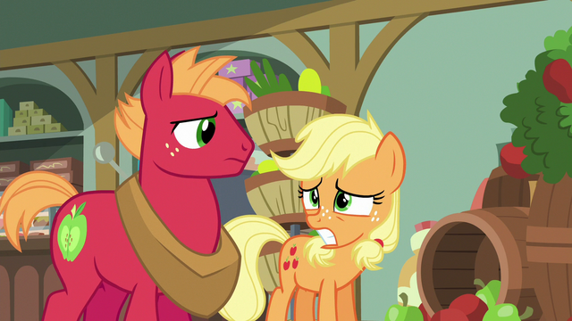 File:Applejack and Big Mac start to look worried S6E23.png