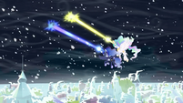 Celestia and Luna zapping storm clouds S6E2